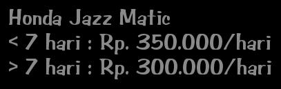 sewa mobil di Bali Honda Jazz